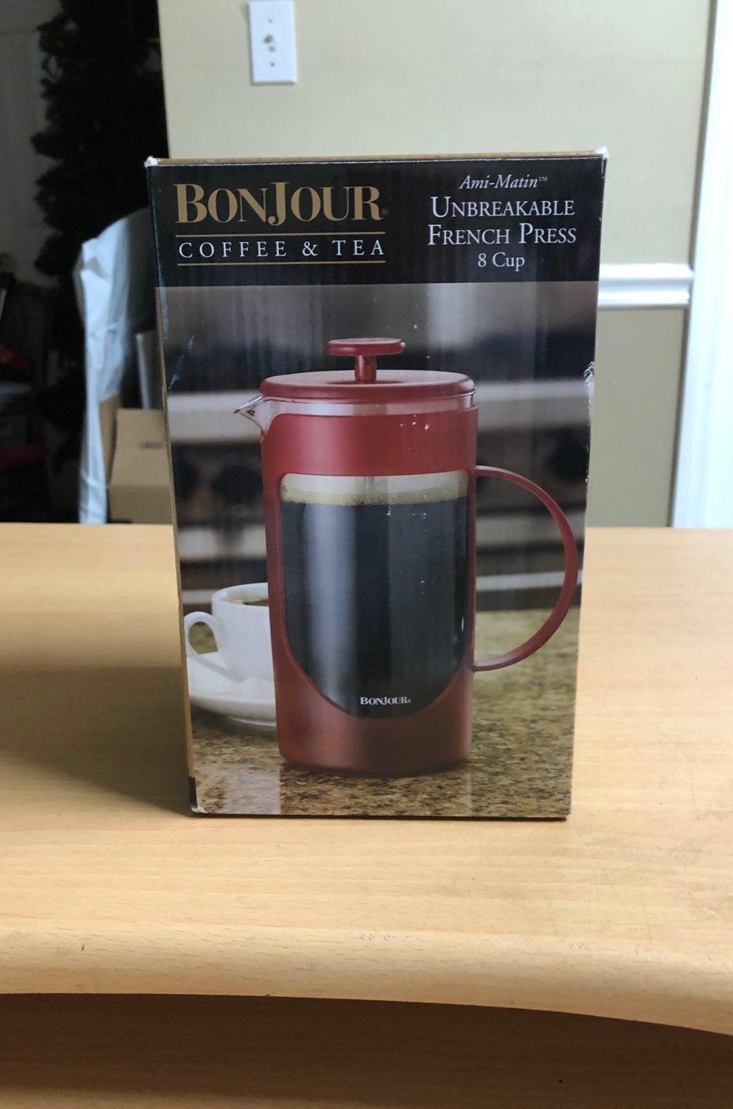 Bonjour Coffee ir Tea French Press 8 Cup