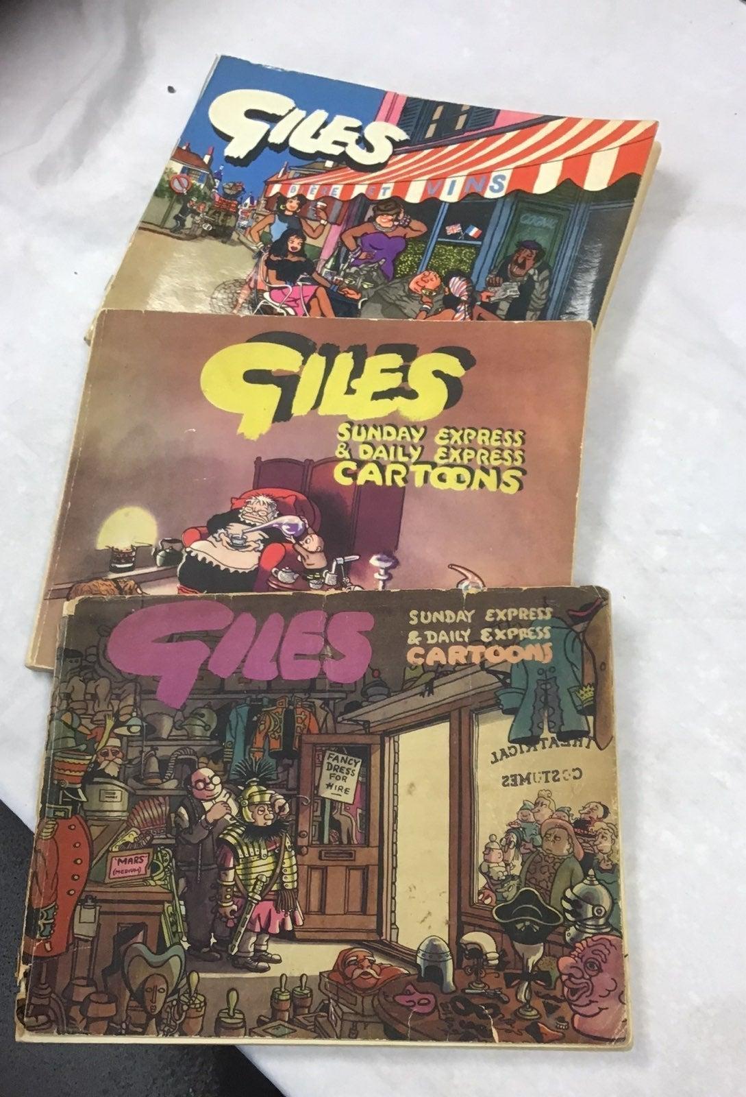 (3) GILES Sunday Express & Daily Cartoon