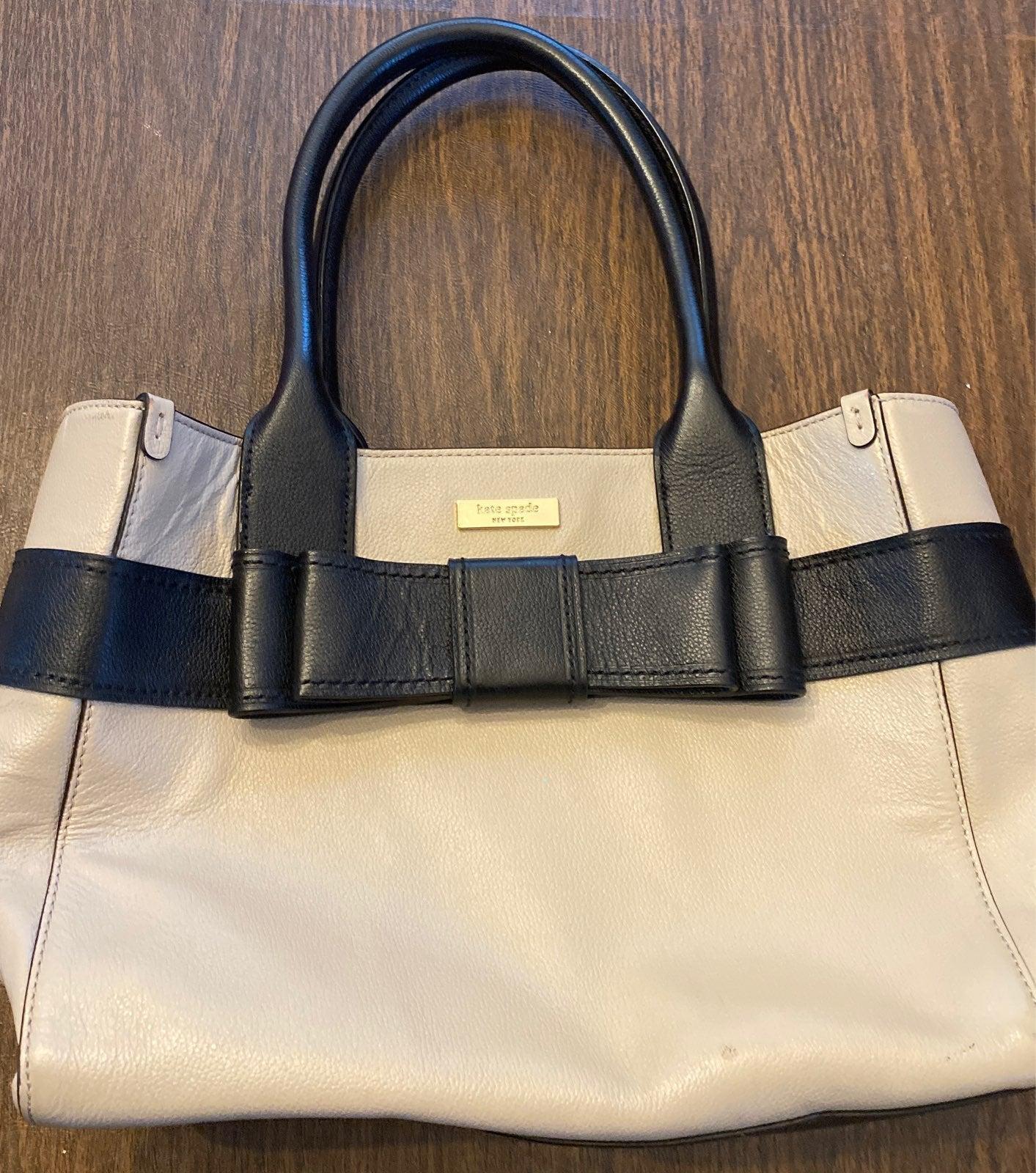 Kate Spade Tan Vintage Leather Bow Purse