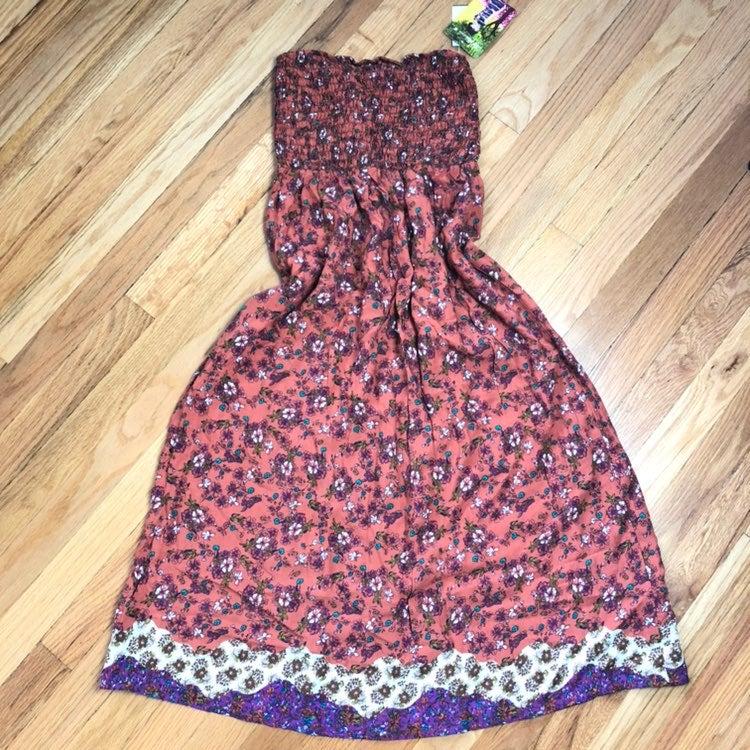 Lily White Strapless Floral Sundress