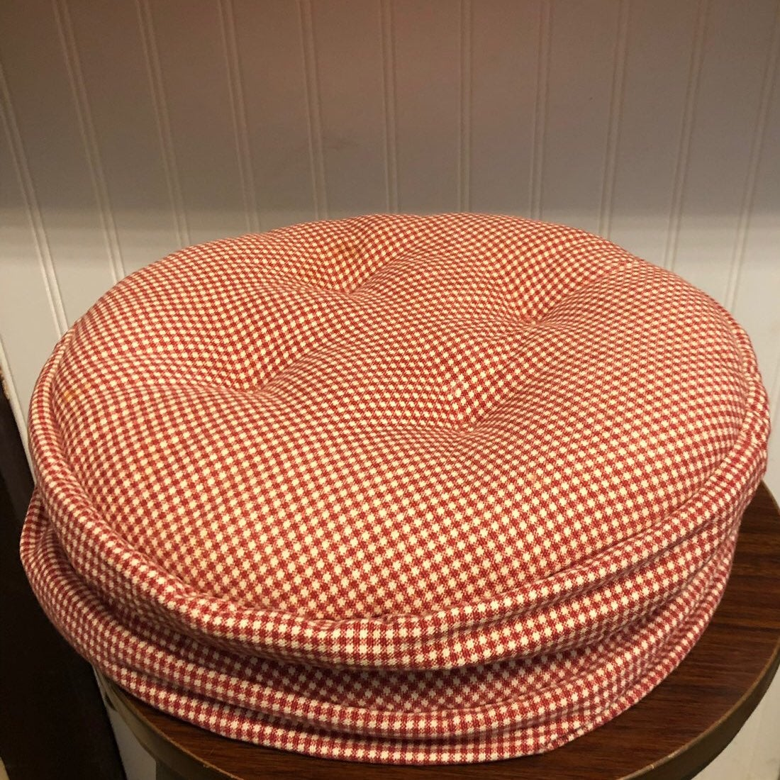 Bar Stool Cushion Plaid Country Fair 2