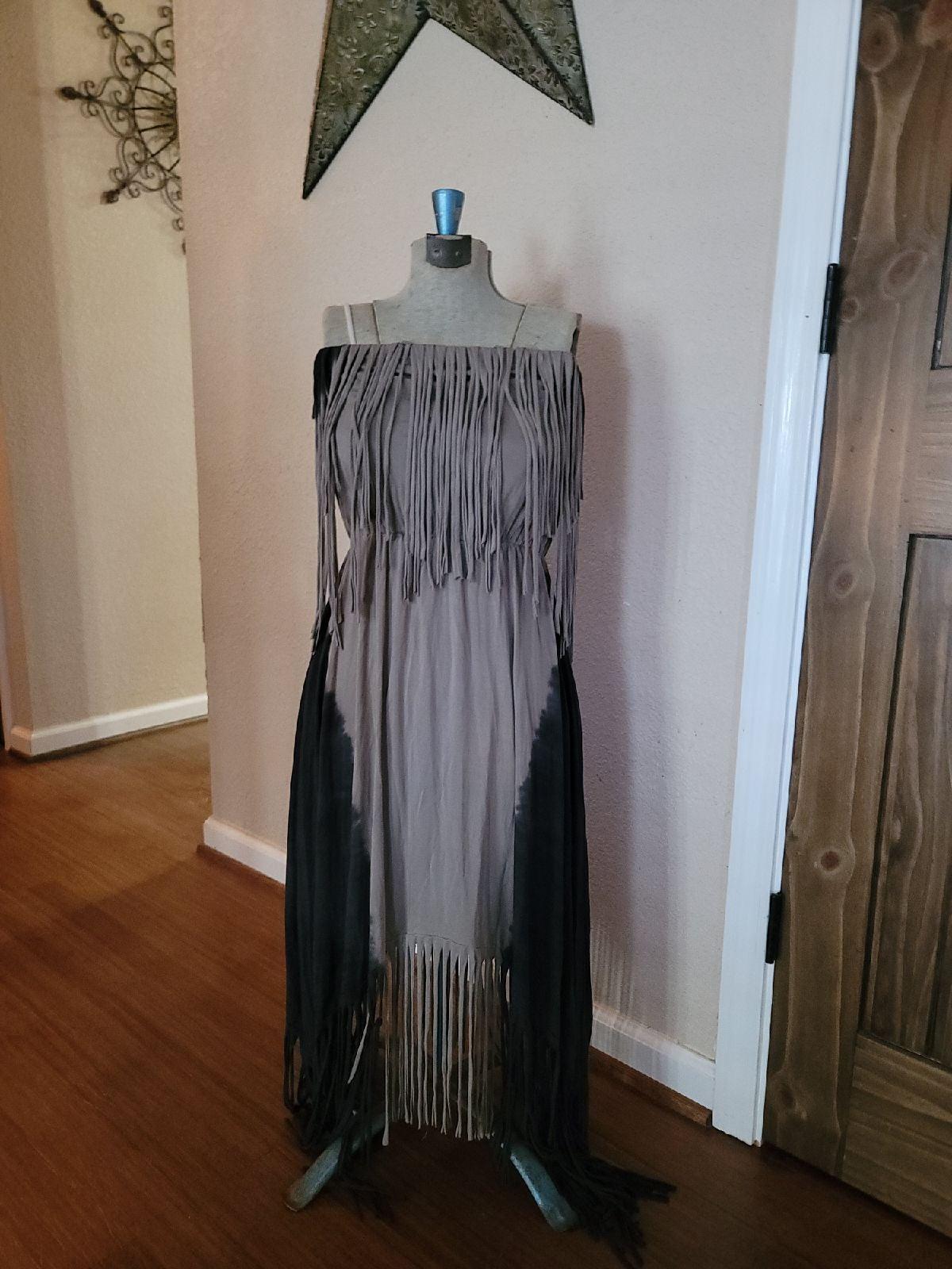 T☆Party Tie Dye fringe dress NWT