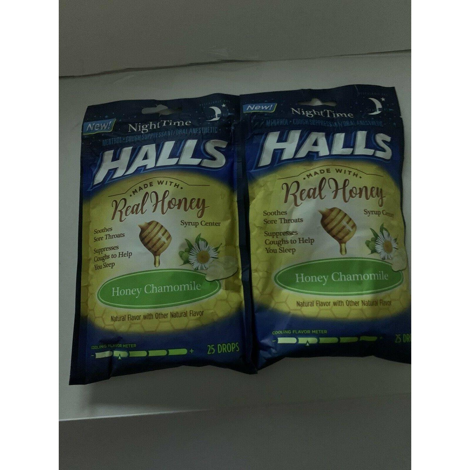 2 Pack HALLS COUGH SUPPRESSANT HONEY