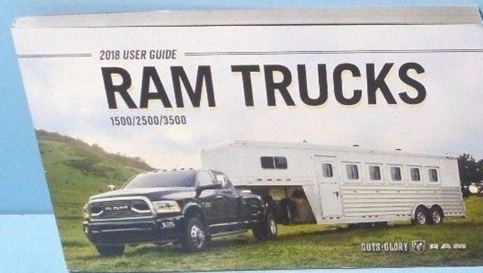2018 DODGE RAM TRUCK OWNER'S MANUAL