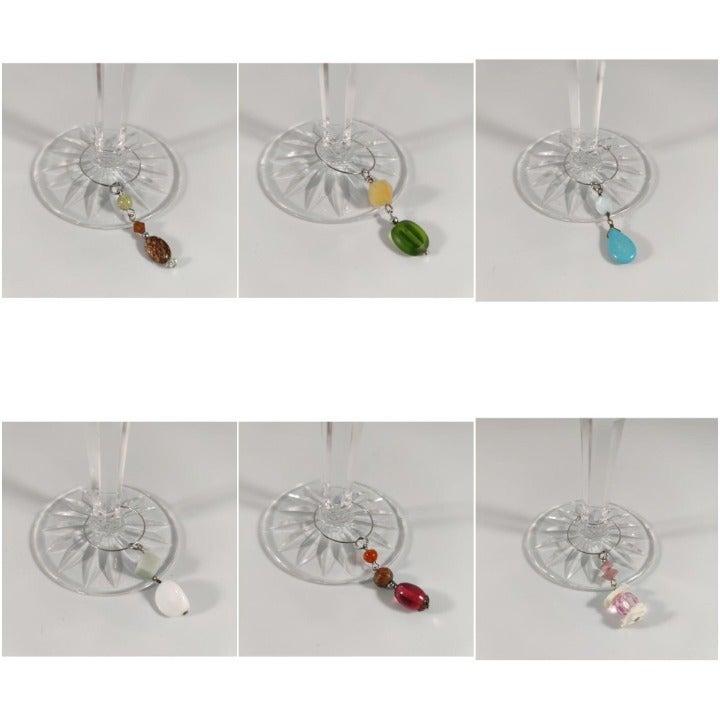 Wine Glass Charms (Set of 6)