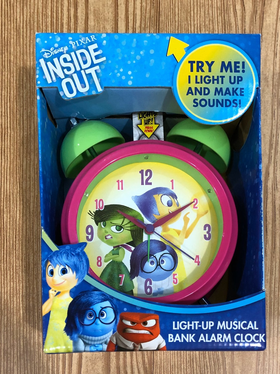 Inside Out bank and alarm clock