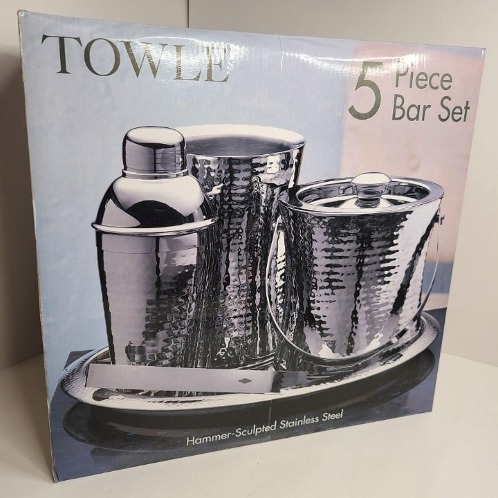 TOWLE Hammer-Sculpted Stainless Steel 5