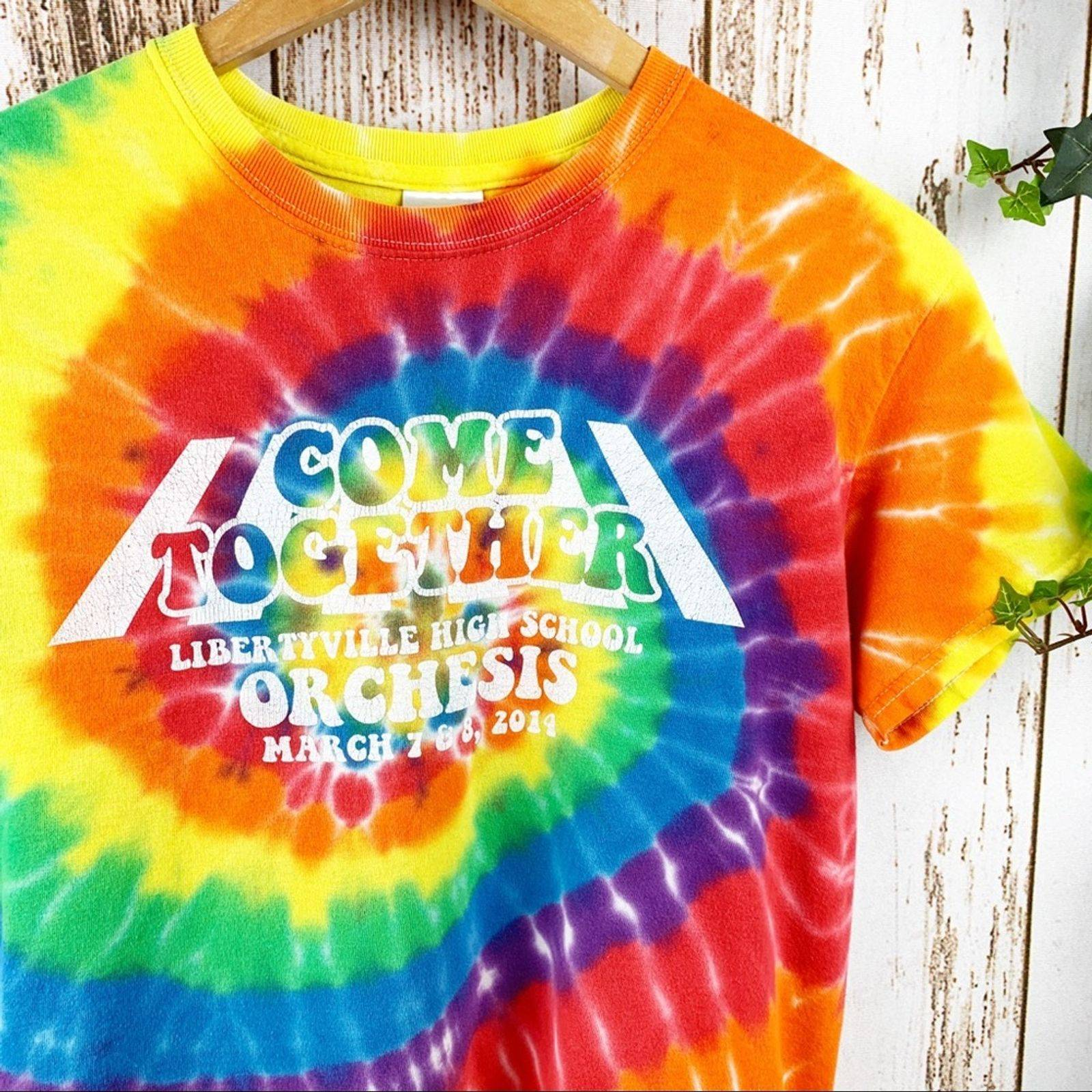 Come Together Tie Dye Graphic Tee Unisex