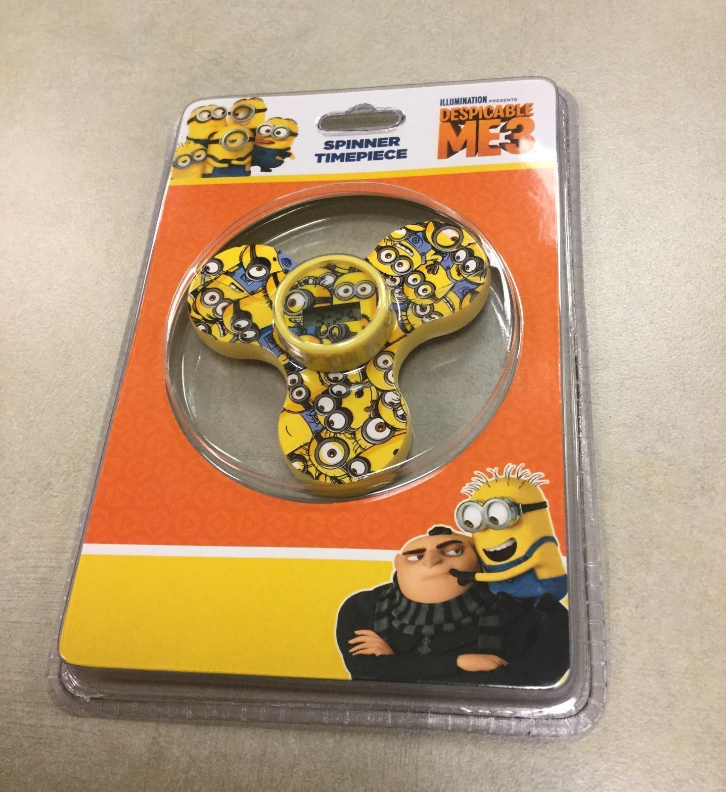 Despicable Me Fidget Spinner Timepiece