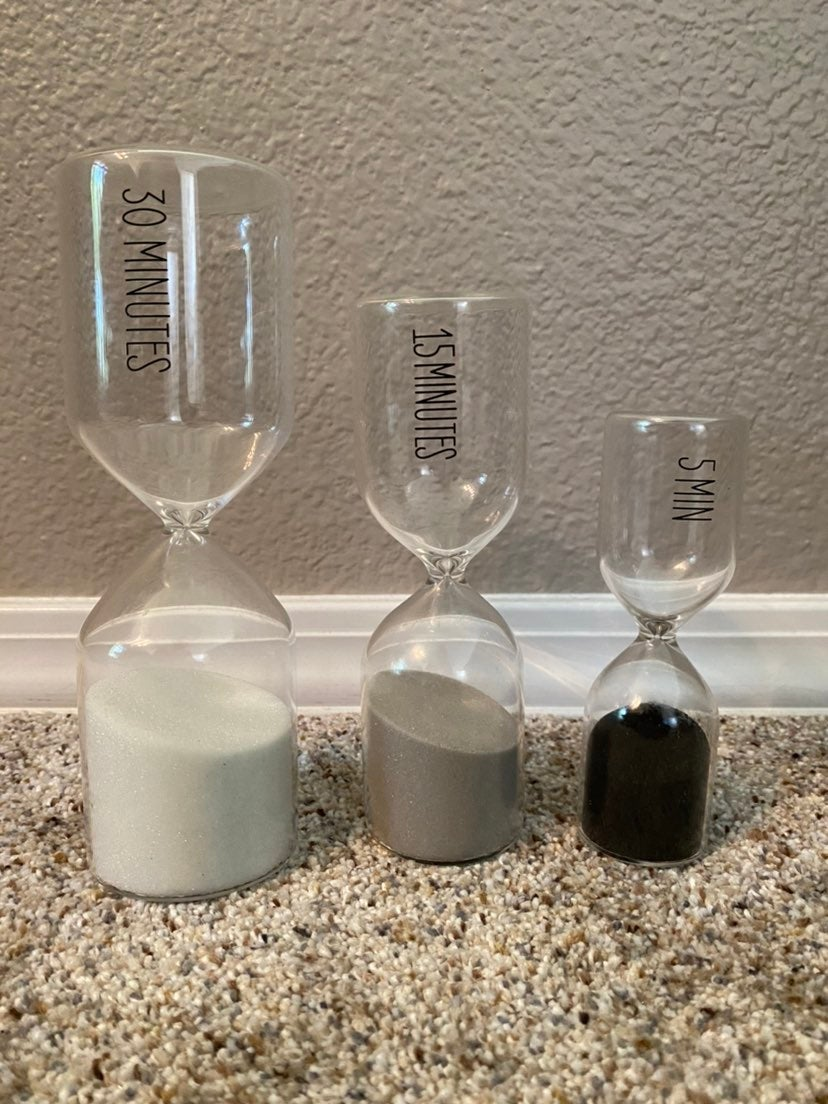 Sand Timer set of 3: 5 min, 15 min, 30 m
