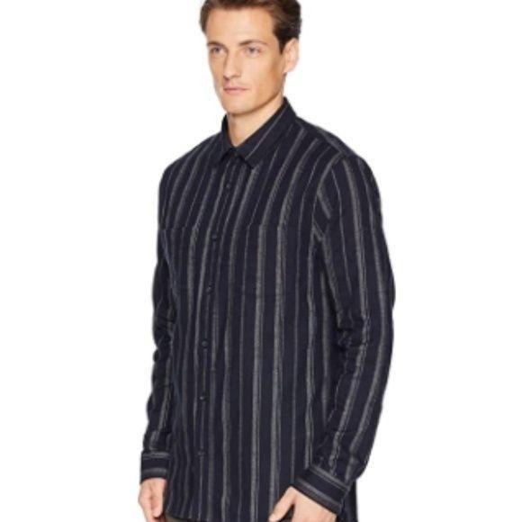 NWOT VINCE Stripe Flannel Shirt in Coast