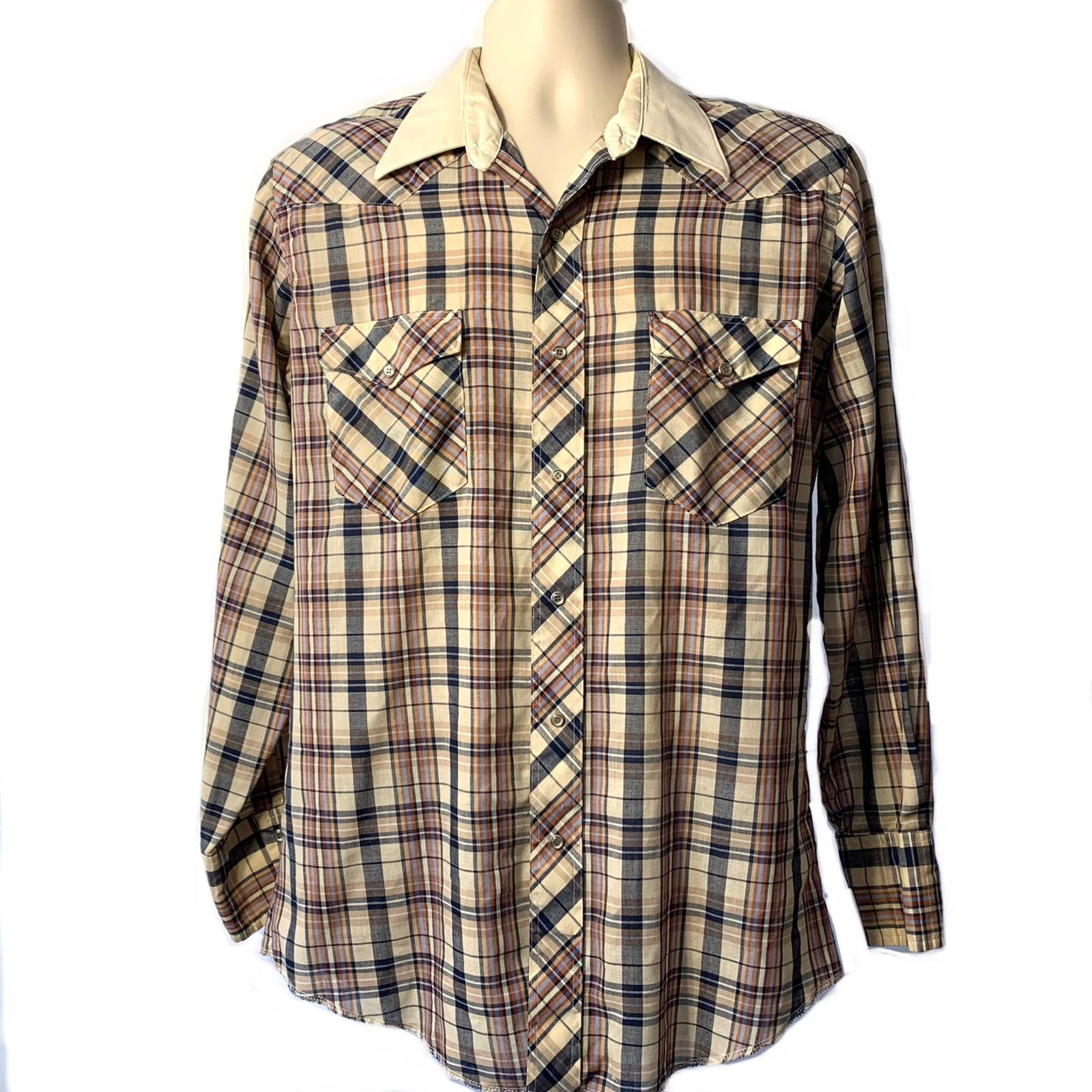 Vintage Wrangler Mens Western Shirt 70s