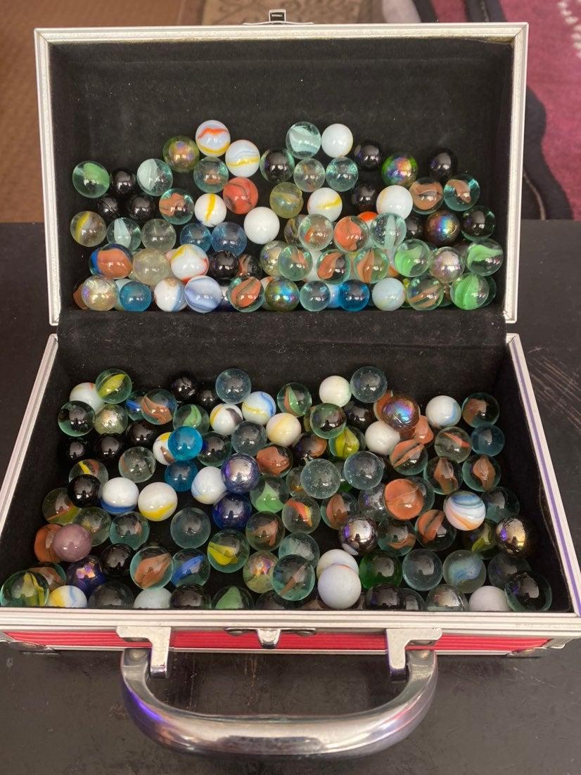 vintage marbles w/case