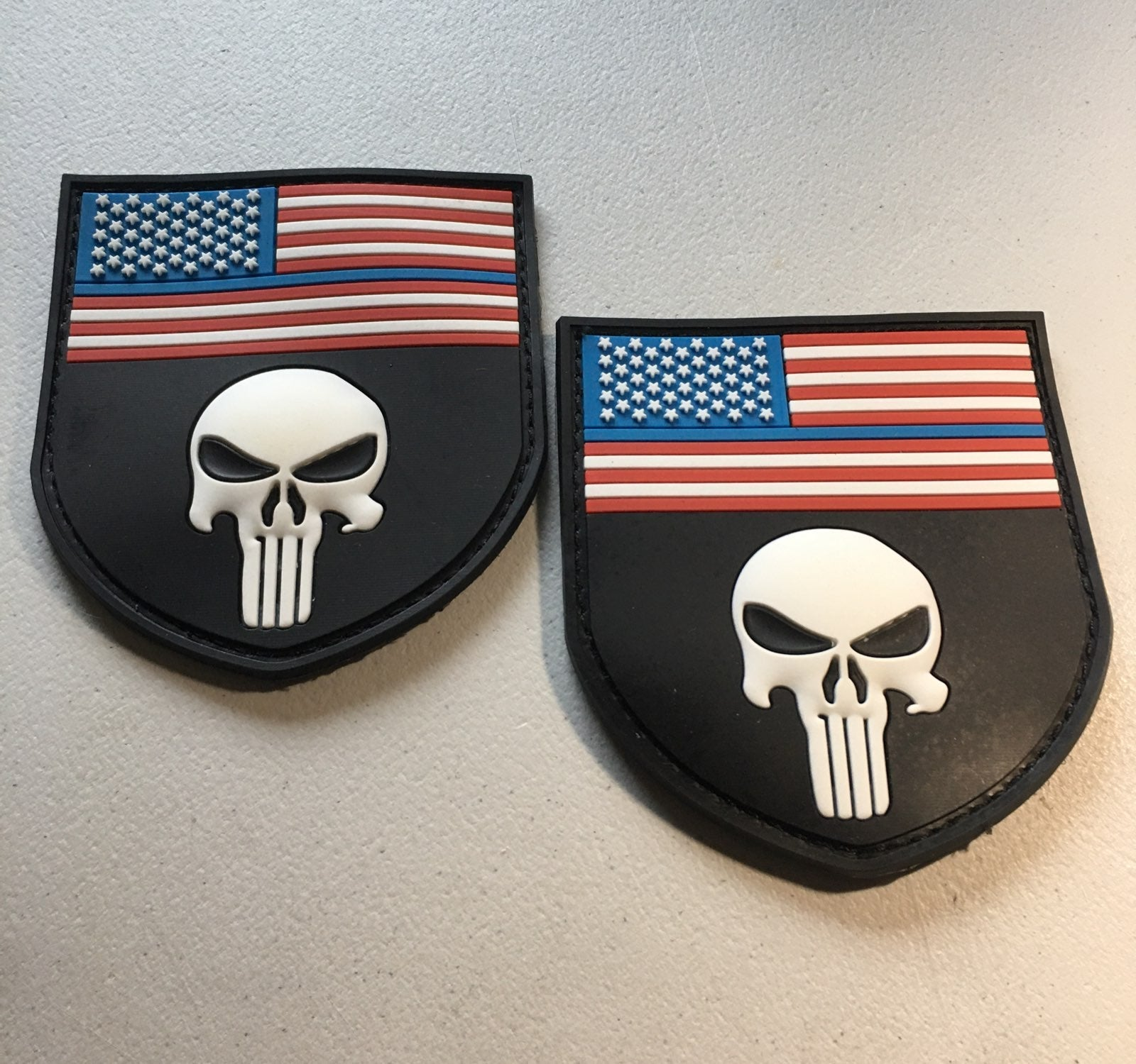 US MILITARY Punisher PVC Patches (2)