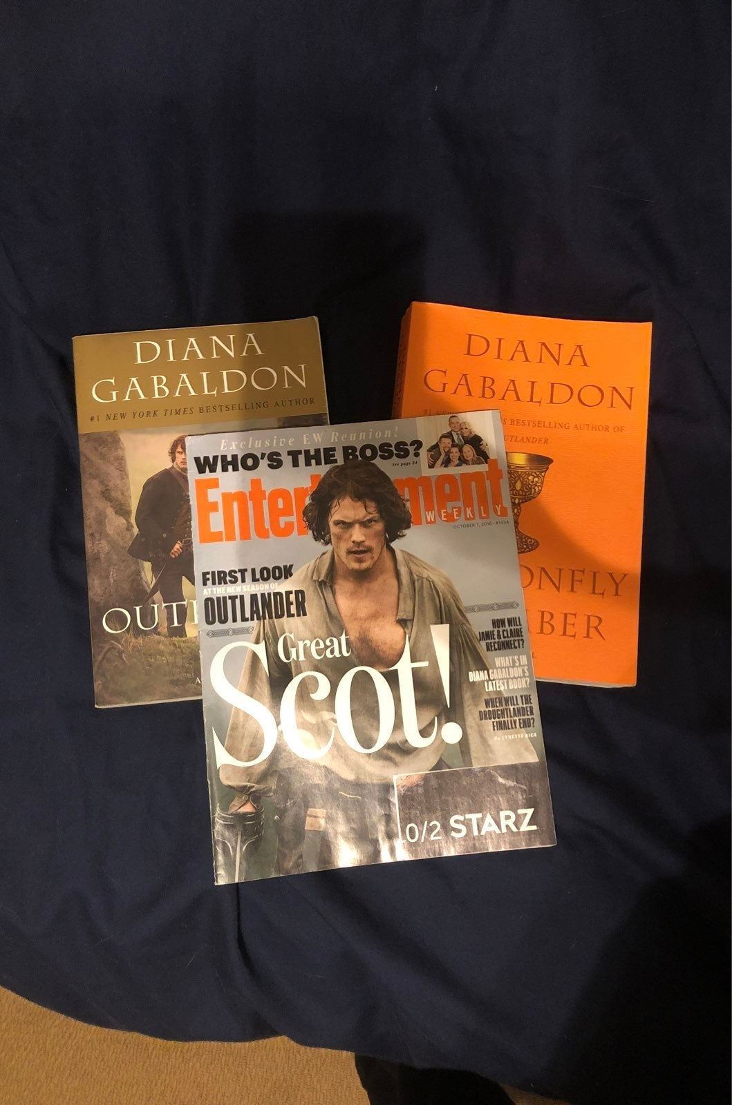 Outlander Books 1 & 2, plus magazine