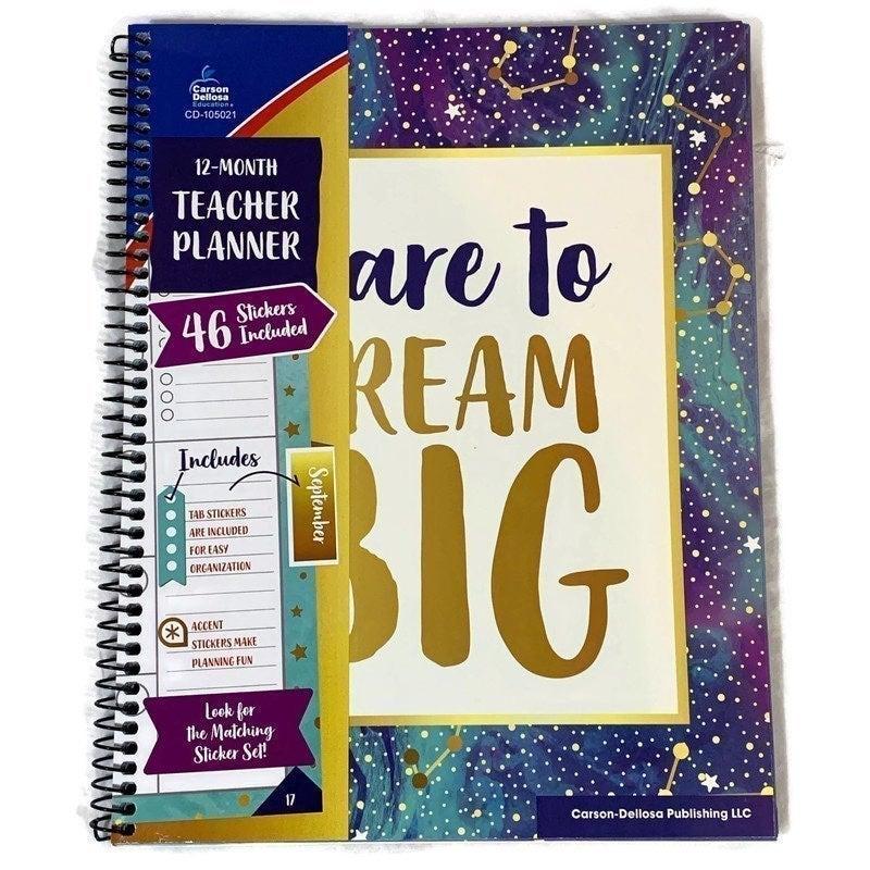 Galaxy 12 Month Teacher Planner Book New