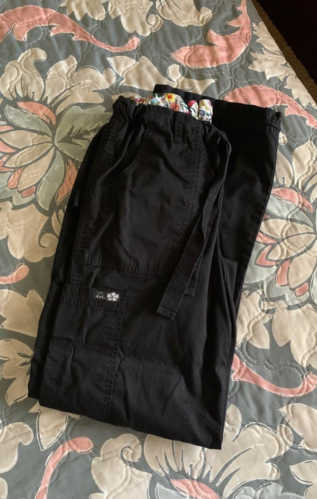 Koi black Scrub pants