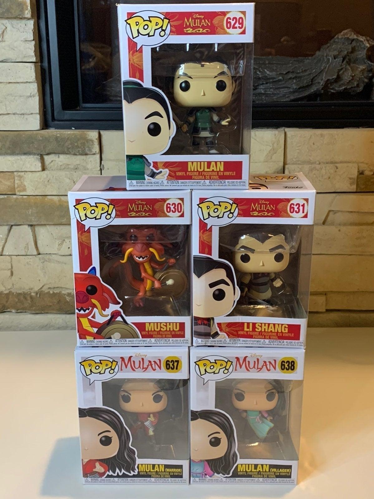 Disney Mulan Pop Lot +DisneyMulanCard