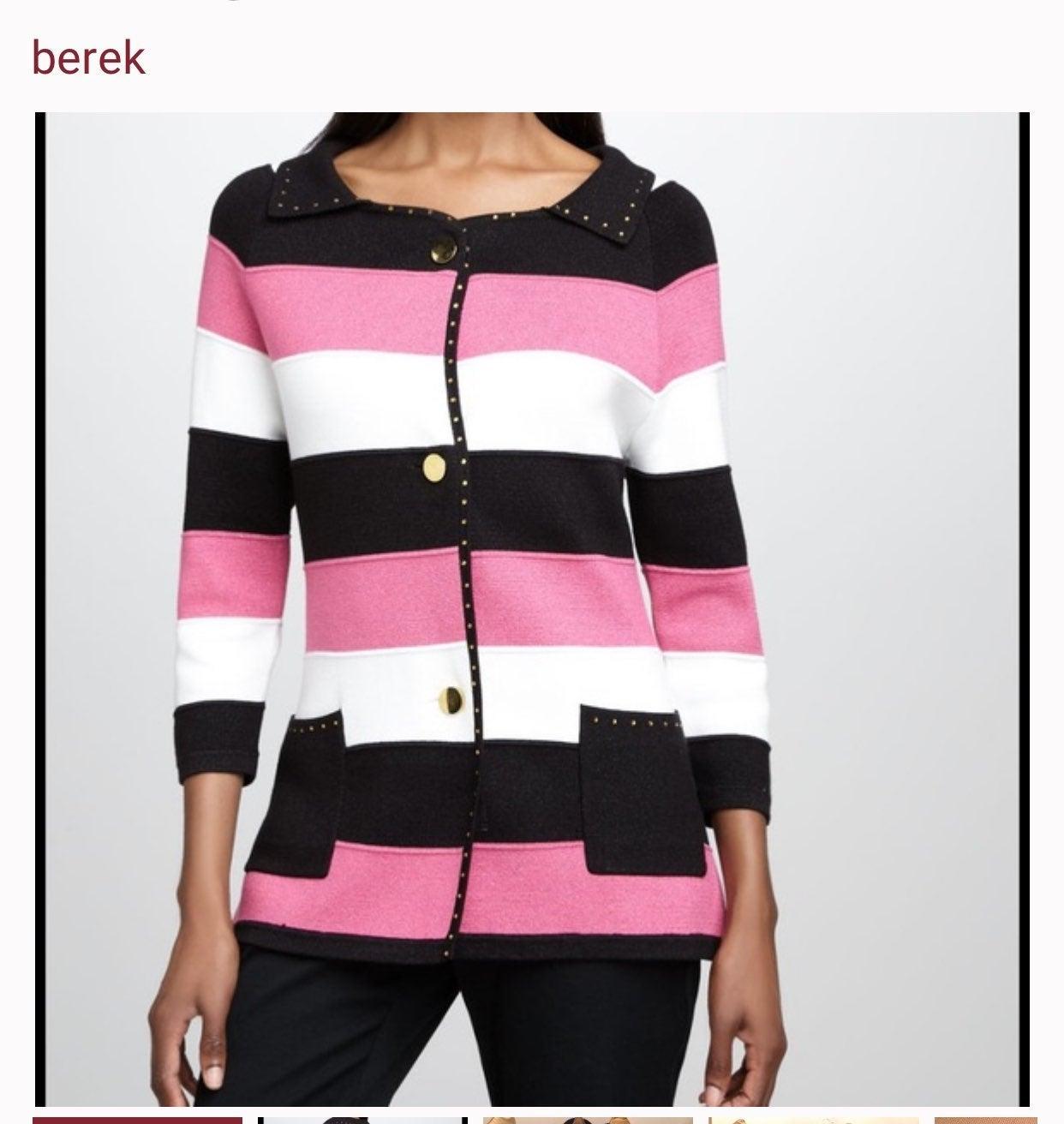 Berek Striped Sweater Cardigan Jacket PL