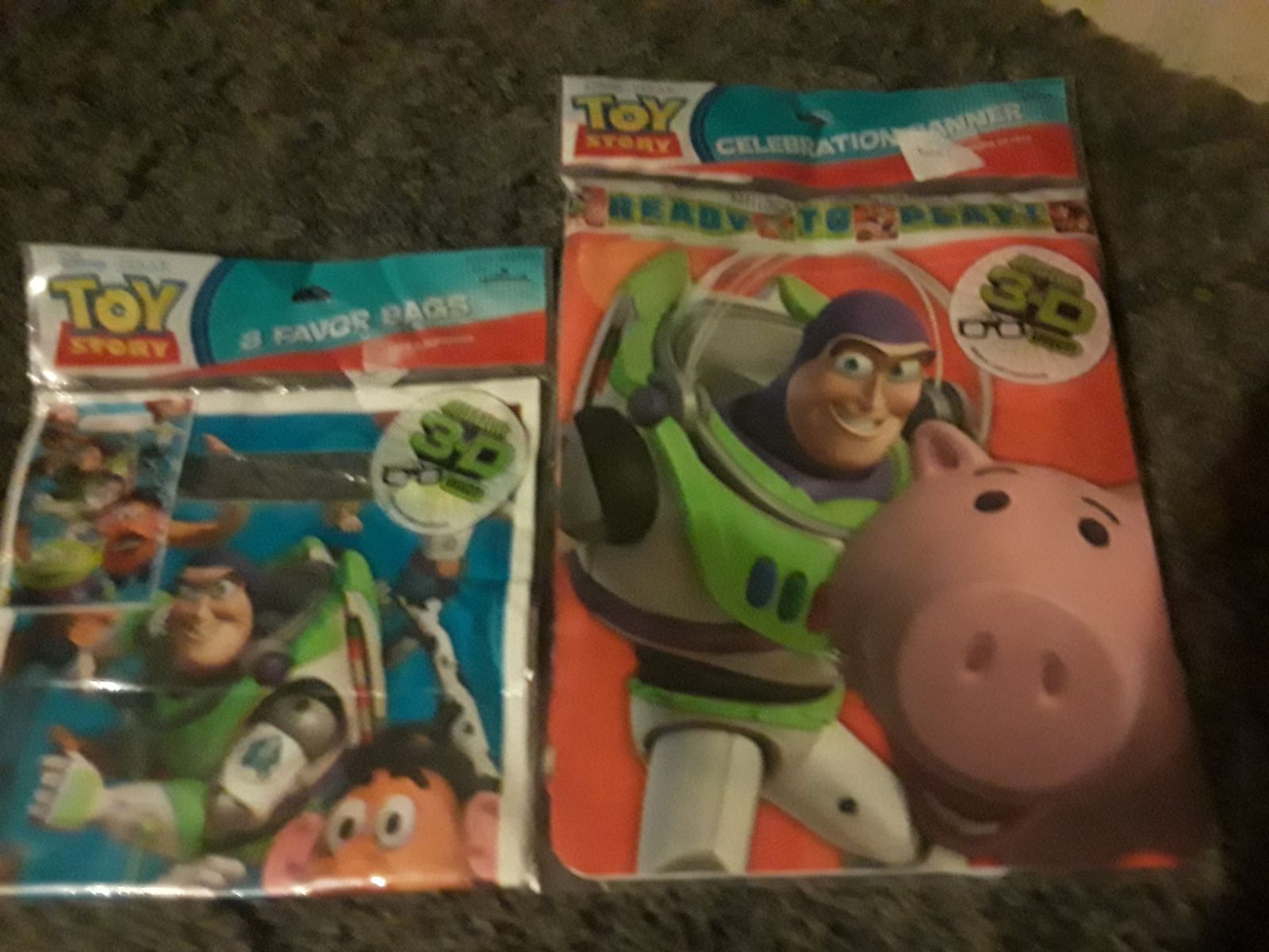 Toy story 3 Birthday banner and treat ba