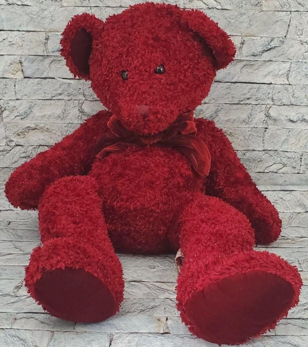 RUSS ROSETTA Red Teddy Bear PLUSH TOY