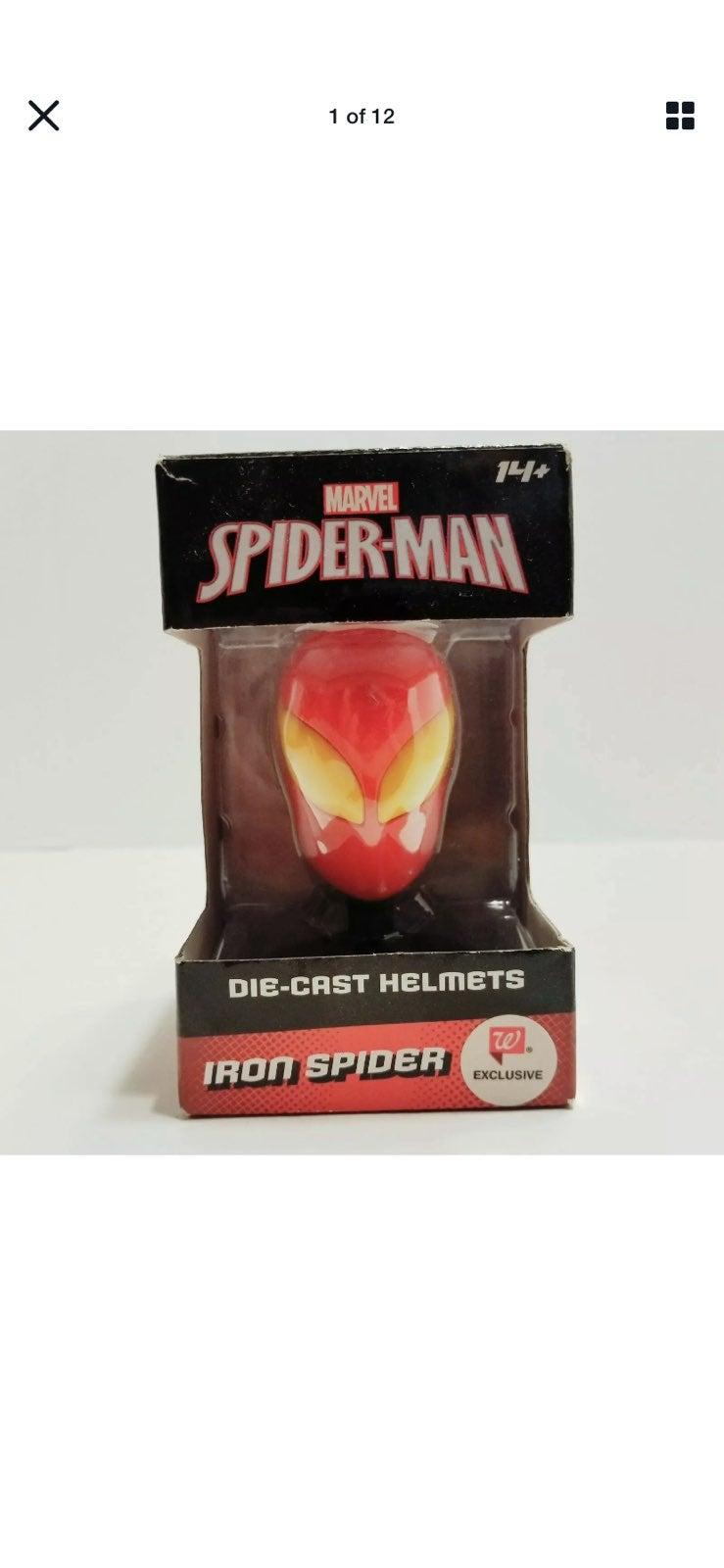 Marvel Spider-Man Die-Cast Helmet Iron S
