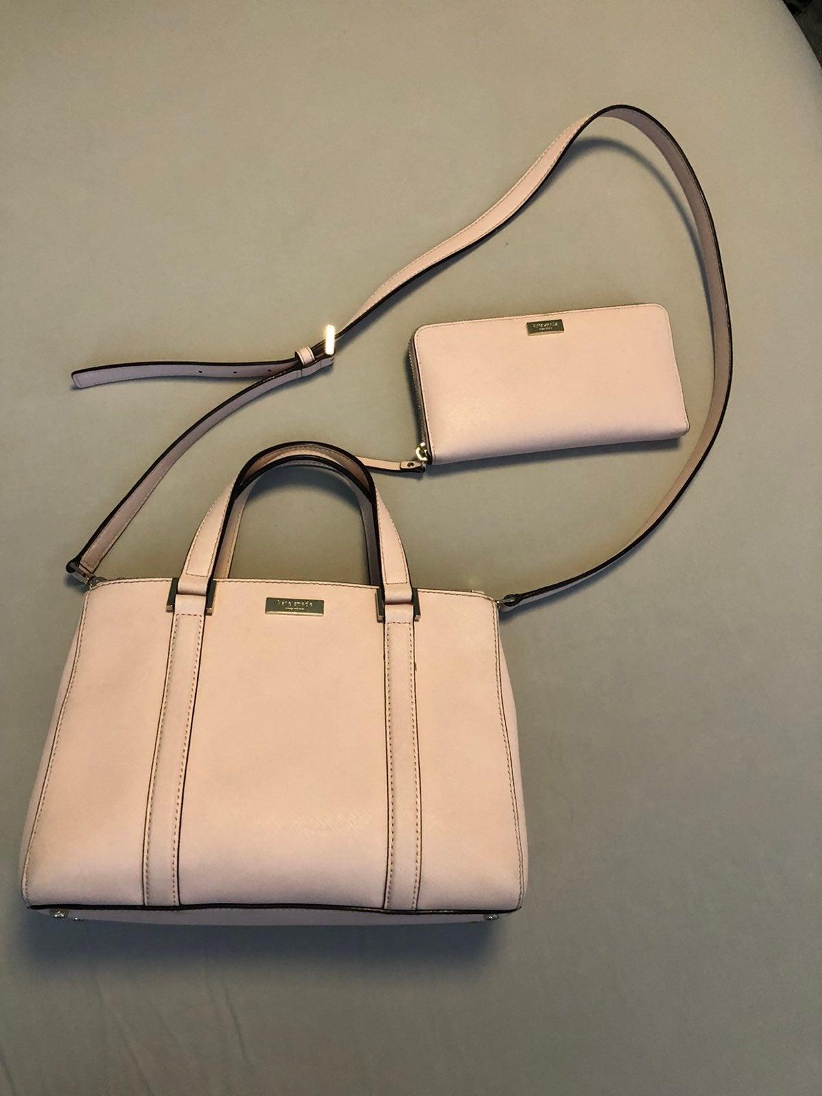 Pink Kate Spade Purse + Wallet Bundle