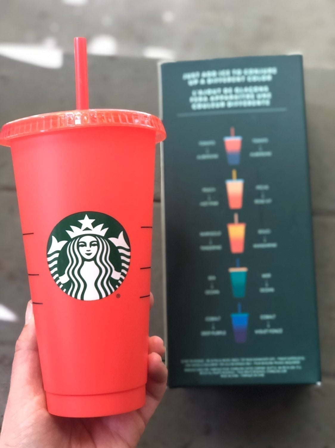 One Starbucks Color Changing Cup