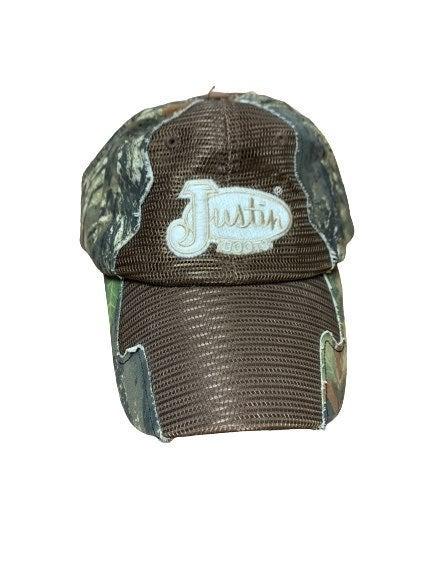 Justin Boots Baseball Hat Cap Camo Nette