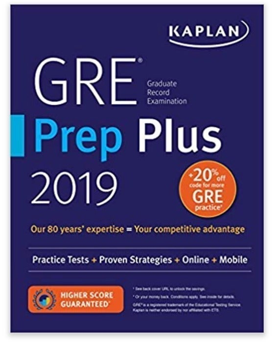 NEW Kaplan GRE Prep Plus 2019