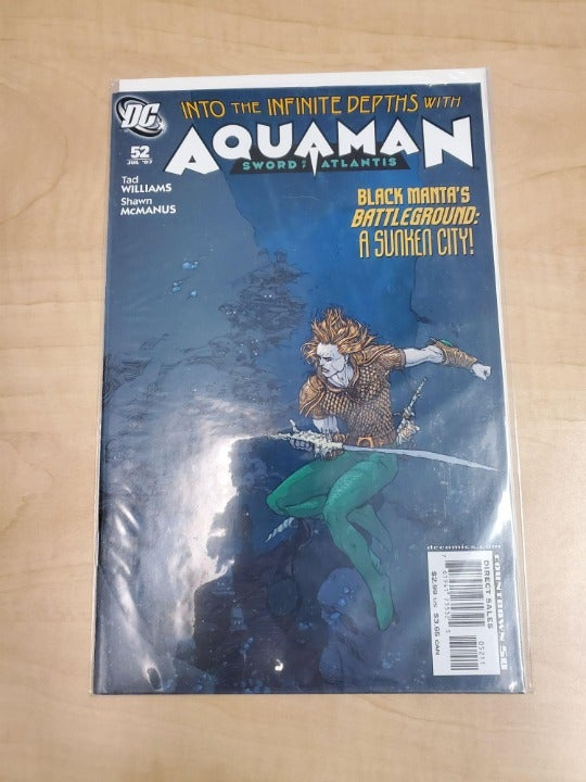 DC COMICS AQUAMAN SWORD OF ATLANTIS #52