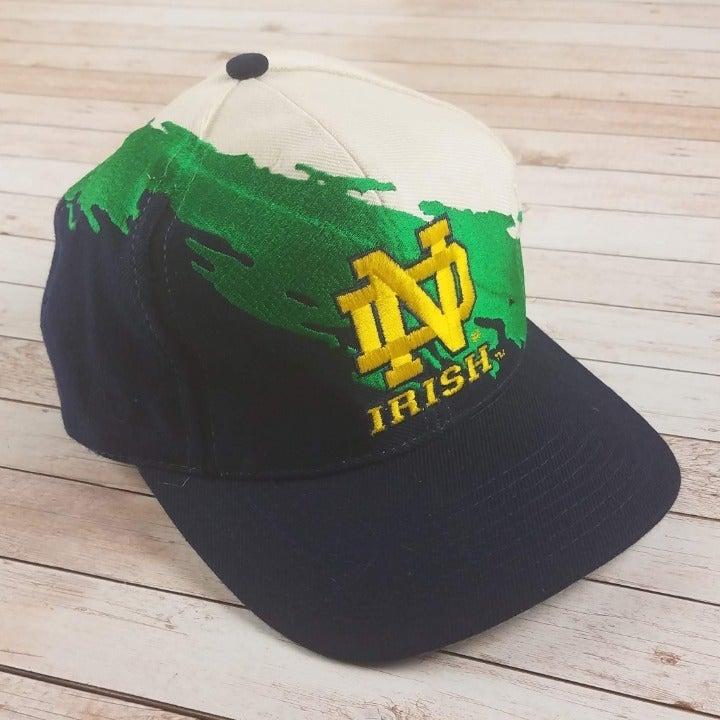 VTG 90s Notre Dame Irish NCAA Splash Hat