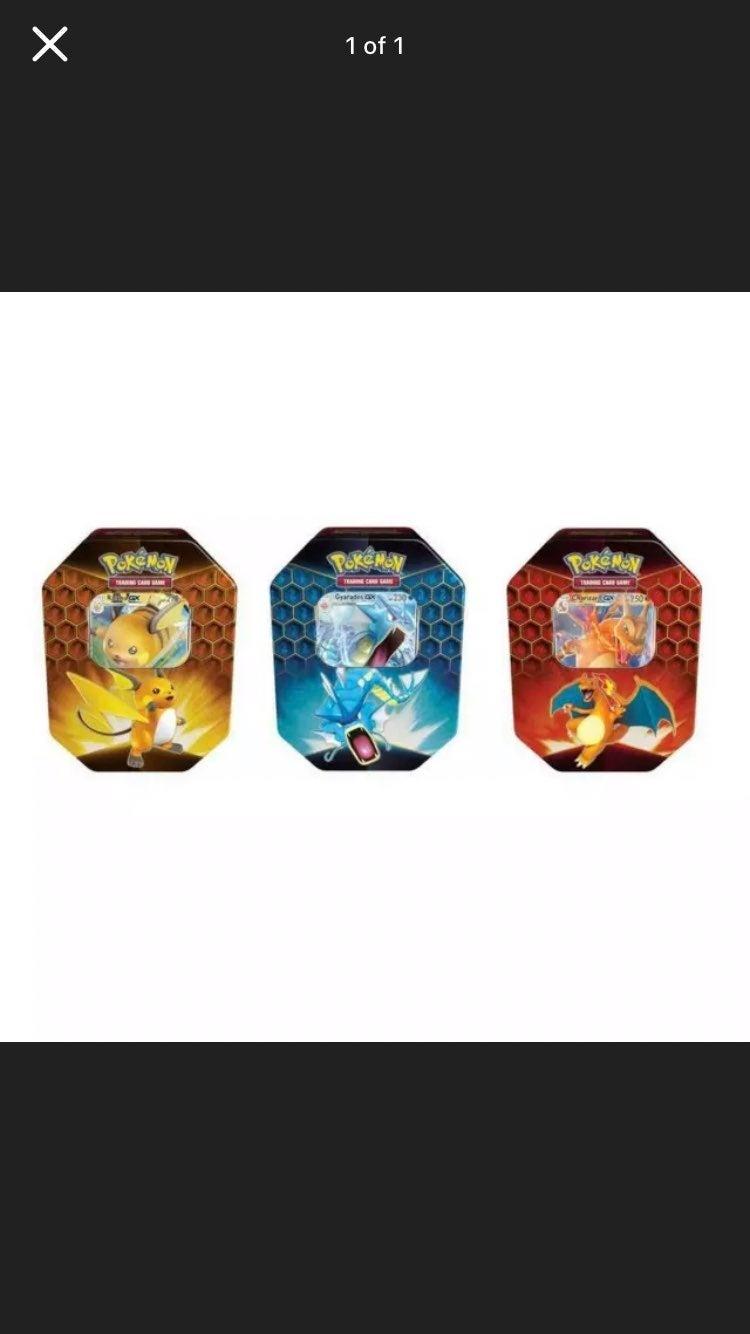 Pokemon Hidden Fates Tins 3x Set