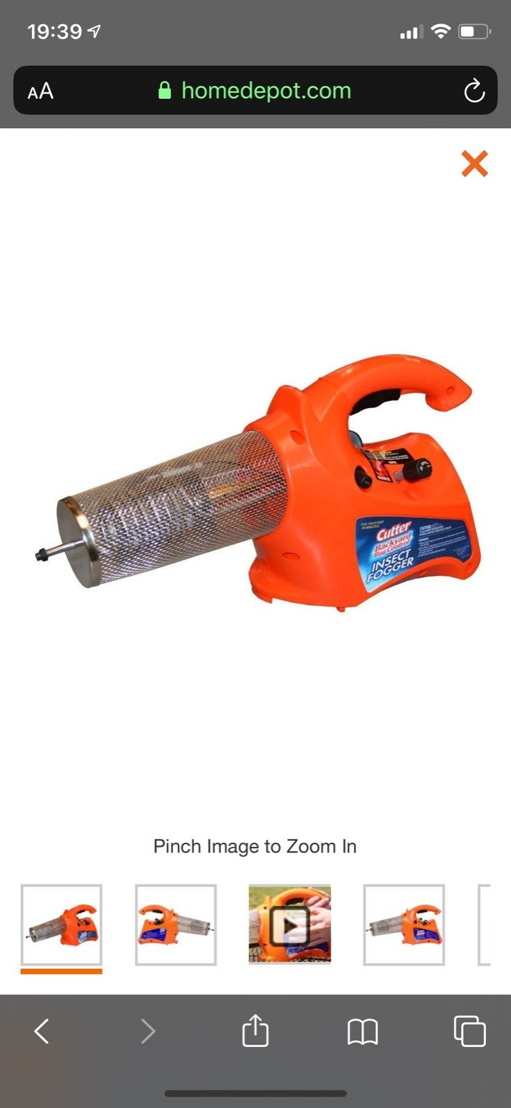Cutter propane powered insect fogger
