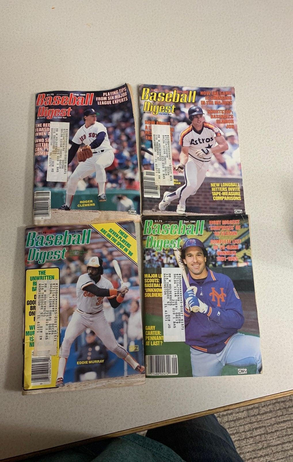 4 baseball digest lot