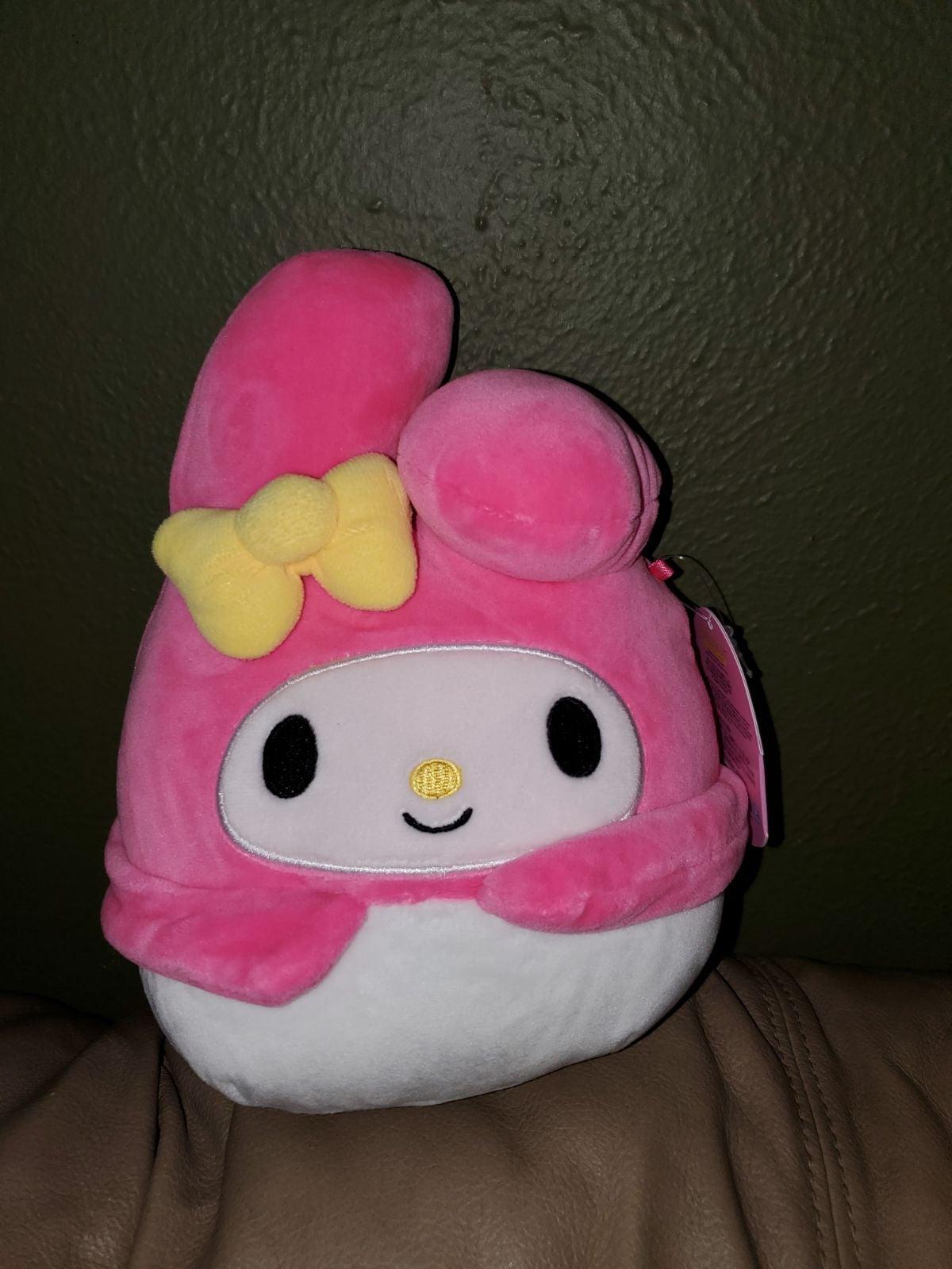 "Squishmallow My Melody Hello Kitty 7"""