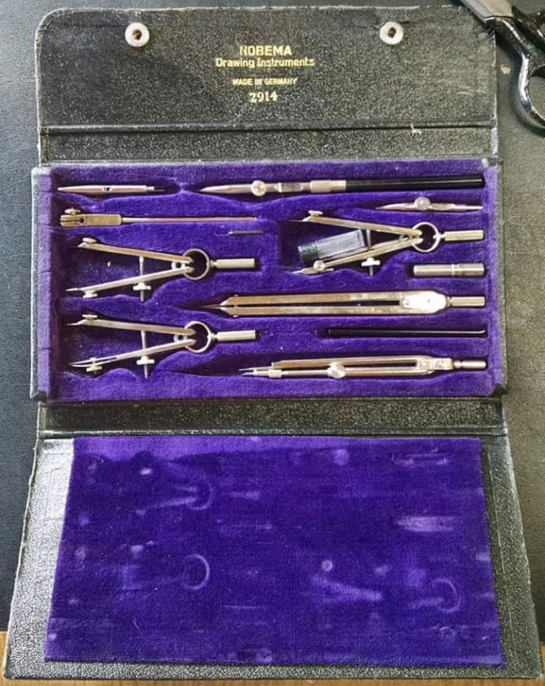 VINTAGE NOBEMA 2914 DRAWING INSTRUMENTS