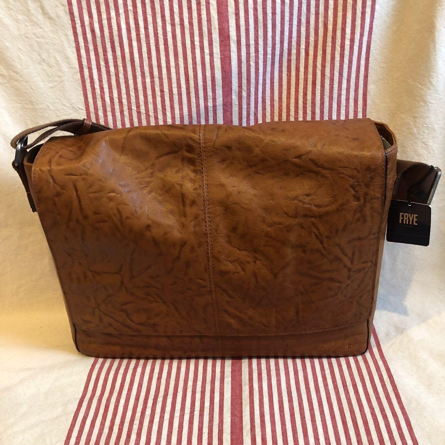 Brand New FRYE Leather Messenger Bag NWT