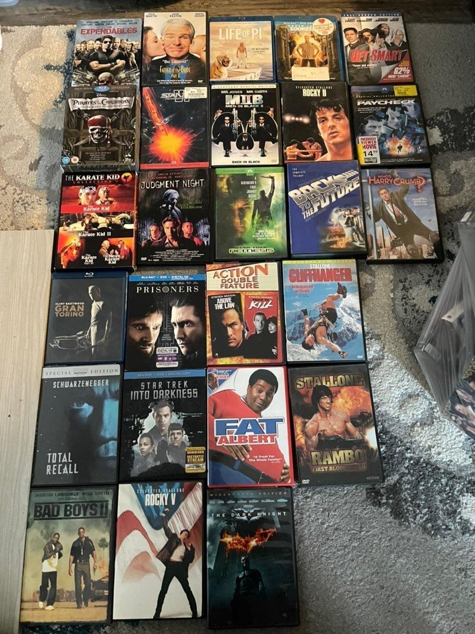 35 dvd/blu ray lot