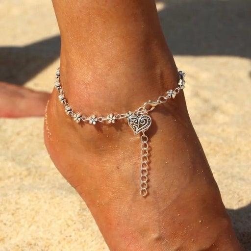 NEW! Boho Flower Heart Fashion Anklet