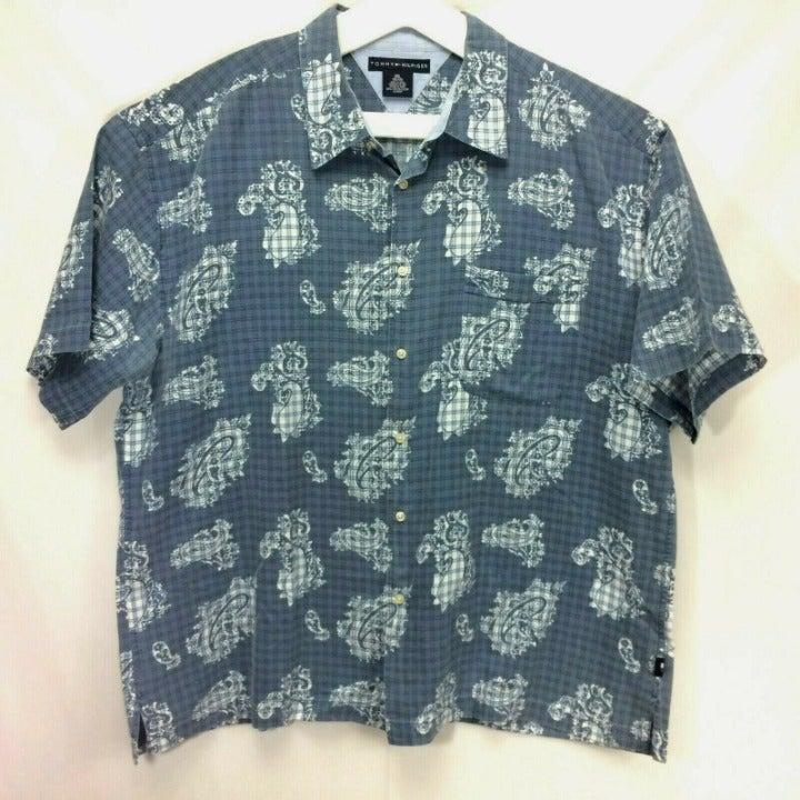 Tommy Hilfiger Mens Hawaiian Shirt XXL