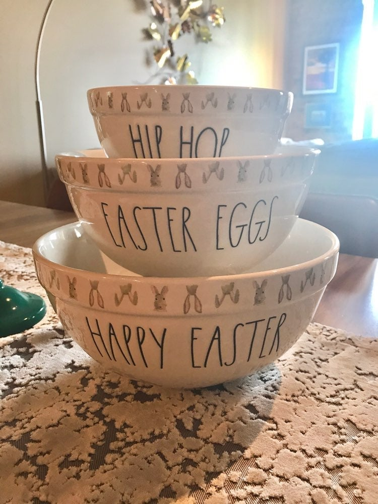Rae Dunn Easter mixing bowl trio