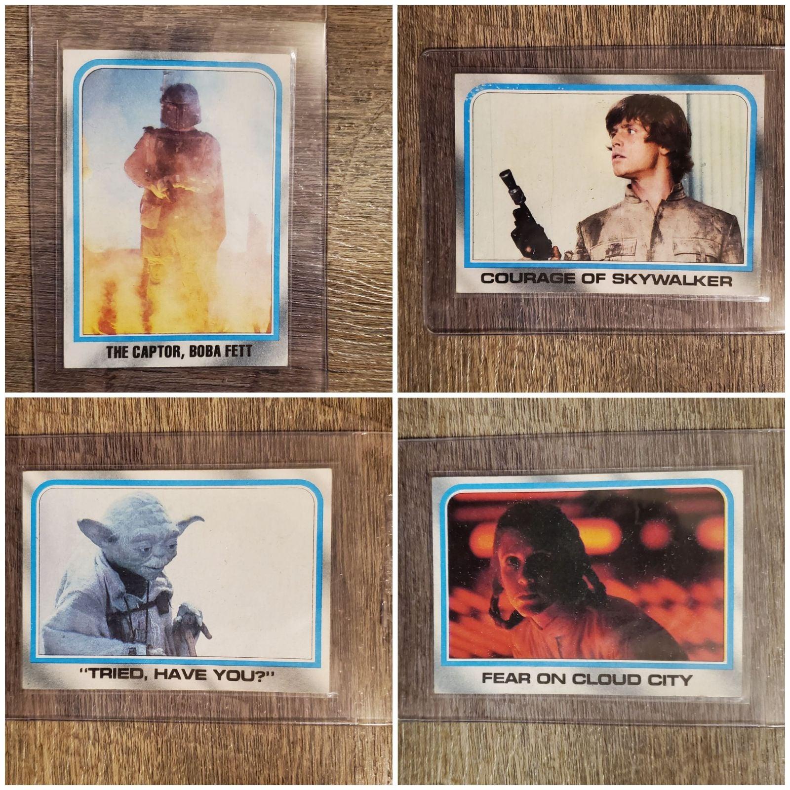 4- 1980  Star Wars  Cards