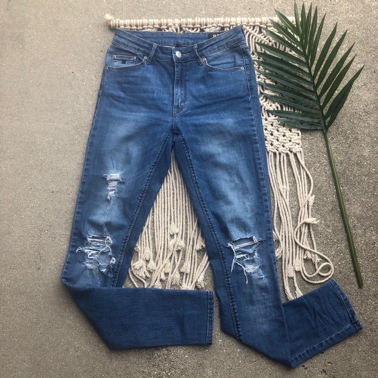RES Denim Distressed Skinny Jeans 27
