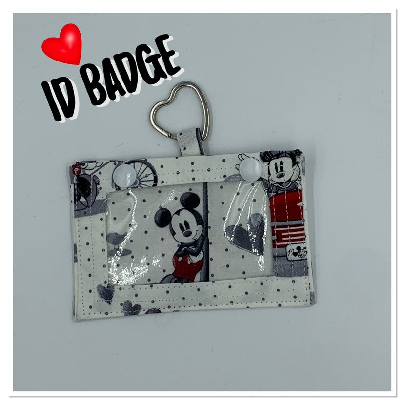 Mickey and Minnie ID Badge Holder