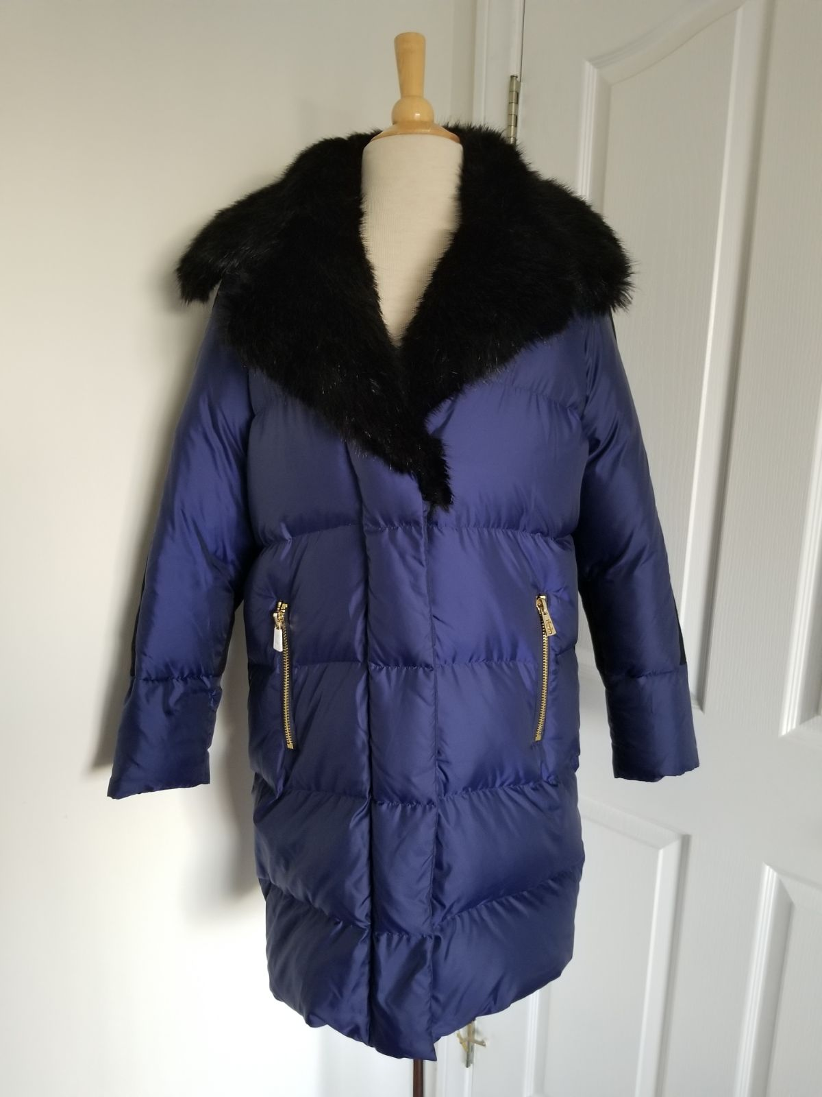 Juicy Couture Down Blue Coat Size S $537