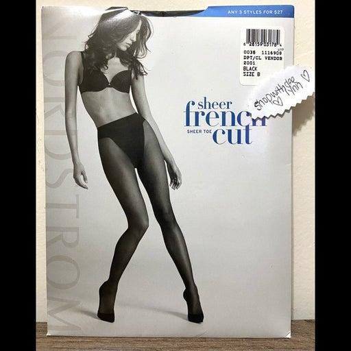 Nordstrom Sheer French Cut Pantyhose SzB
