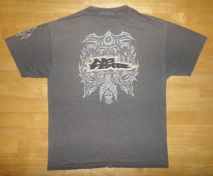 Vintage NO FEAR Gray Tribal Shirt