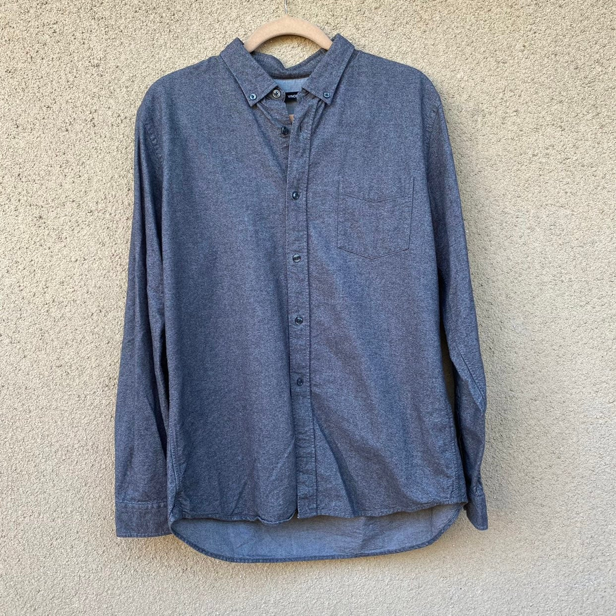 Vince button down flannel Large gray