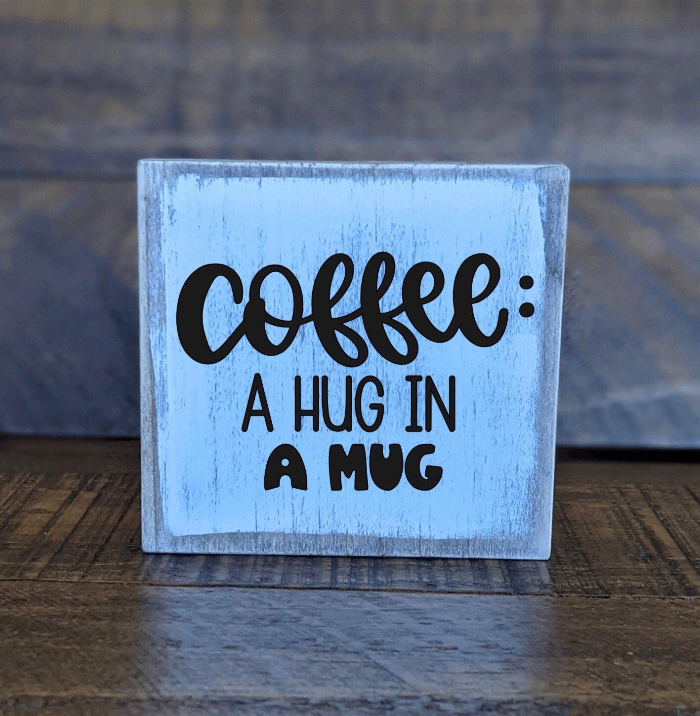 Wood Mini Block Coffee Bar Decor Sign